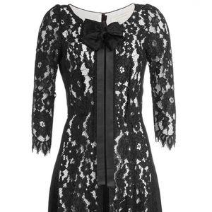 Black & white Marc Jacobs lace dress w/ bow, sz 10